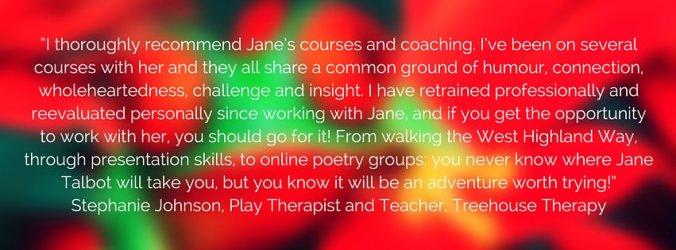 Testimonial for Jane Talbot