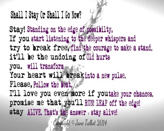 cleave poem by Jane Talbot